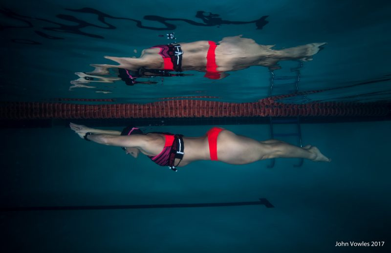 Pool fitness shoot with Sunelle Barnard